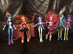 Equestria Girls My Little Pony Hasbro Dolls Lot 2014 Talking Pinkie Pie Singing