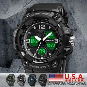 SKMEI Men's 1742 Sport Military Date Waterproof LED Digital Analog Quartz Watch
