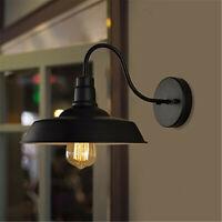 Industrial Vintage Wall Mount Lamp Garage Porch Barn Light Retro Metal Sconce