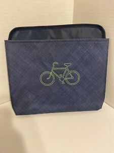 Thirty One Oh Snap Pocket Navy Cross Pop Hanging Organizer with Lime Green Bike