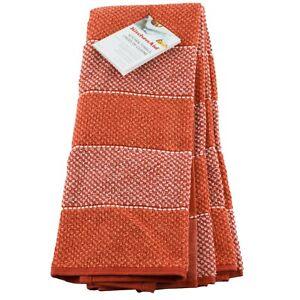 "Kitchenaid Kitchen Dish Towels Orange 16"" x 28"" 2 Pack Halloween"