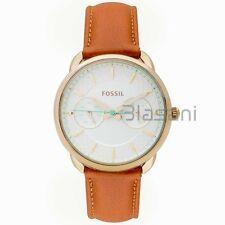Fossil Original ES4006 Women's Tailor Dark Brown Leather Watch 34mm Multifunct