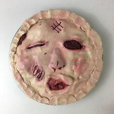 "Bloody Raspberry Pie Face Halloween Prop Decoration 10"" OOAK Joke Gag"