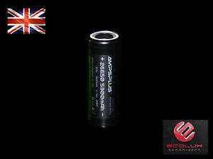 26650 Battery 3.7V Li-ion 5300mAh 20A High Power IMR Genuine Ampsplus UK Stock
