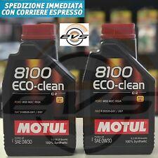 2 Lt Motul 8100 Eco-Clean 0W30 Olio Motore 100% Sintetico C2 FORD WSS M2C 950A
