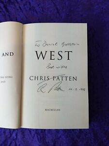 Last British Governor of Hong Kong Chris Patten signed book 'East & West'