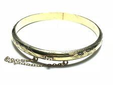 Beautiful Stunning Ladies Gold Vermeil Sterling Silver Bracelet - Signed CAJ