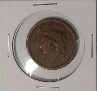 1838 US LIBERTY Coronet Head Large Penny One Cent Coin US Currency 50421G
