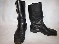 HARLEY DAVIDSON MOTORCYCLE BOOTS MENS SIZE 9 1/2  BLACK LEATHER HARNESS RIDING