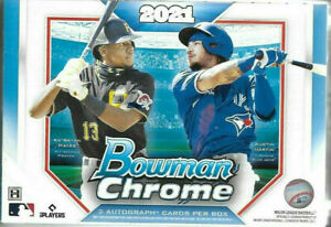 2021 Bowman Chrome Baseball Factory Sealed HTA Choice Box