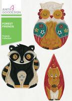 Anita Goodesign Forest Friends Embroidery Machine Design CD NEW
