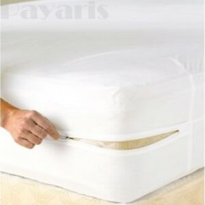 Royal Mystique Fitted Vinyl Mattress Cover Heavy Duty Vinyl Waterproof Cover New
