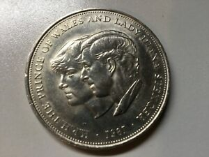 PRINCE CHARLES/LADY DIANNA COMMEMORATIVE COIN 1981