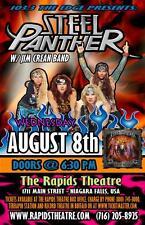 STEEL PANTHER 2012 NIAGARA FALLS CONCERT TOUR POSTER