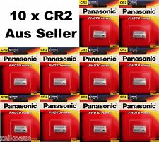 10 Genuine Panasonic CR2 Lithium 3V Battery for photo camera CR-2W/1BE