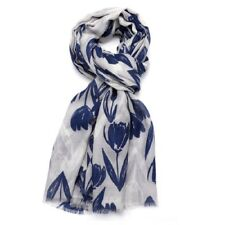 Tulip Scarf Tulips Floral Flowers Blue Grey Mustard Yellow Pink White Scarves