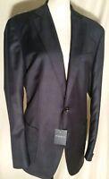 NWT Peter Millar Loro Piana 120's Wool Plaid Jacket Coat Starlight Blue 42R