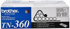 Brother Genuine OEM TN360 5 pack High Yield Black Toner Cartridge (2.6K YLD)