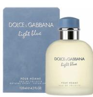 125ml Dolce & Gabbana Light Blue Eau de toilette for Men 4.2 oz Perfume Hombre