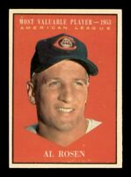 1961 Topps Set Break # 474 Al Rosen MVP EX-MINT *OBGcards*