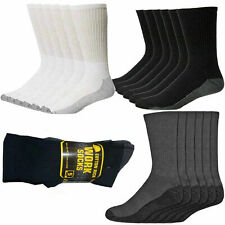 Mens Heavy Duty Industrial Crew Boot Work Thick Socks Reinforced Heel & Toe Lot