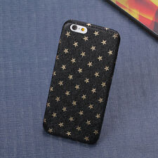 Stars Leather Phone Back Case Cover For Apple iPhone 5 5S SE 6 6S Plus