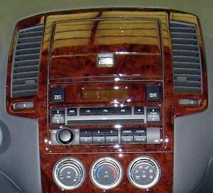 INTERIOR BURL WOOD DASH TRIM KIT SET FOR NISSAN ALTIMA 2005 2006 S SE LE SL