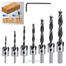 8pcs Tapered Drill Countersink Bit Screw Set Wood Pilot Hole Woodworking Tools