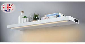 Lixa Warm White LED Shelf High Gloss Floating Wall Mount Display Decoration