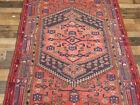 "4'2""x6'10 Handmade wool Authentic Antique geometric Oriental Vintage area rug"