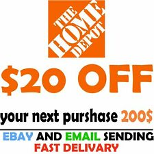Home Depot Coupon $20 Off $200 [Online-Use Only] -Very-Fast_Sent-