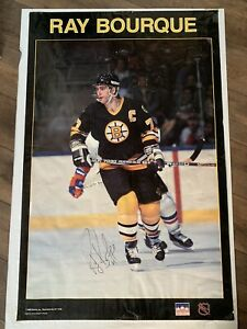 RAY BOURQUE BOSTON BRUINS IN-PERSON AUTHENTIC AUTOGRAPH STARTER VINTAGE NHL