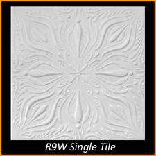 Polystyrene Glue Up Ceiling Tiles 20x20 R9 White Pack of 8