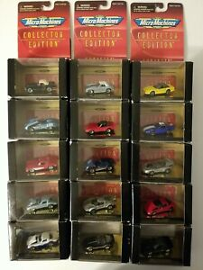 Galoob Micro Machines Corvette Series I  Collection of 21 Cars All NIB