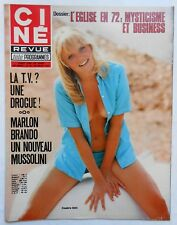►CINE REVUE 29/1972-ANOUK AIMEE-MARIA SCHELL-MARLON BRANDO-CLAUDIA CARDINALE...