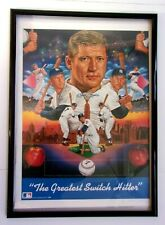 """Mickey Mantle Lithograph """"Greatest Switch Hitter"""" Facsimile Signed, Unframed"""