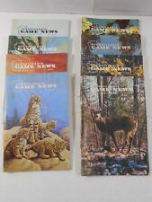 8-Issues 1975 PA Game News Magazine Hunting Cover Art Bobcats Beagle Deer Buck