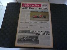 MOTORING NEWS 6 FEBRUARY 1969 CHRIS AMON AUSTRALIAN GP, MARK DONOHUE DAYTONA