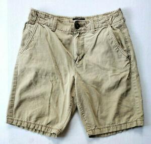 Mens American Eagle Dark Khaki Thick Cotton Classic Chino Casual Shorts Sz 28