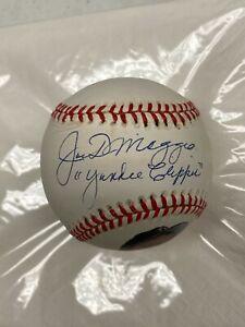 Joe DiMaggio Yankee Clipper Autographed Signed Baseball Beckett COA LOA