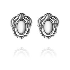 Georg Jensen HERITAGE Ear Clips Of The Year 2014 with Silver Stone
