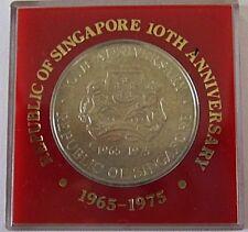 Singapore 1975 $10 Unc Silver Coin (Ship)