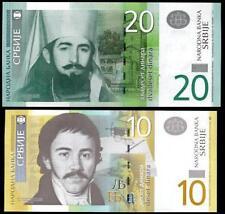 LOT SET SERIE 2 BILLETS Serbie SERBIA 10 & 20 DINARA NEUF UNC