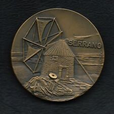 "BRONZE MEDAL OF PORTUGUESE WINDMILL ""SERRANO"" BY VASCO BERARDO. M31"