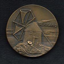 """BRONZE MEDAL OF PORTUGUESE WINDMILL """"SERRANO"""" BY VASCO BERARDO. M31"""
