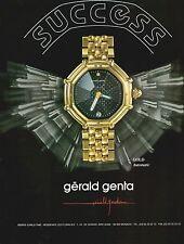 ▬► PUBLICITE ADVERTISING AD MONTRE WATCH Gérald GENTA gold 1992
