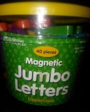 40 Piece Magnetic Jumbo Alphabet (Upper-Case) Brand New SIP Learning Resources