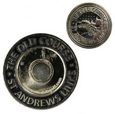 St. ANDREWS Two Sided FLAT COLLECTORS COIN BALL MARKER w/Removable BALL MARKER