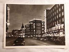AK alte Ansichtskarte Hannover Nacht Bahnhofstraße Europahaus 17.4.1956 gelaufen
