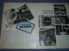 "1970 VW Engine How To Tech Info Vintage Article ""Tailor-Made Bug Power"""